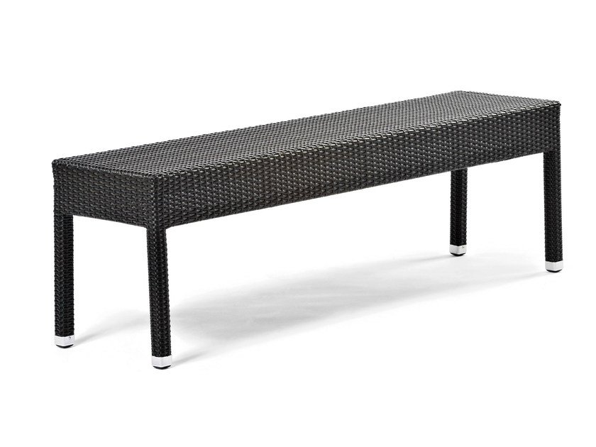 Bench with synthetic fiber weaving LOTUS | Bench by Varaschin