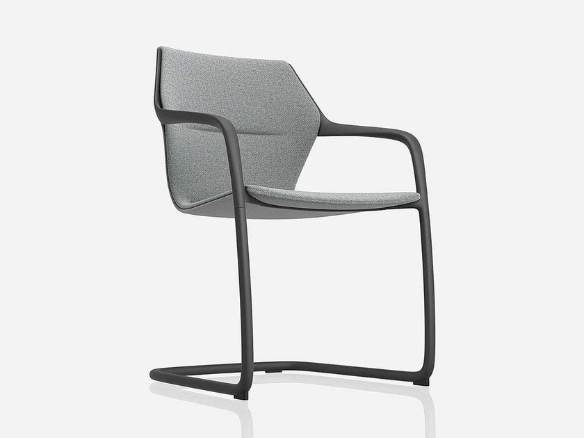 Cantilever ergonomic fabric chair Cantilever chair by Brunner