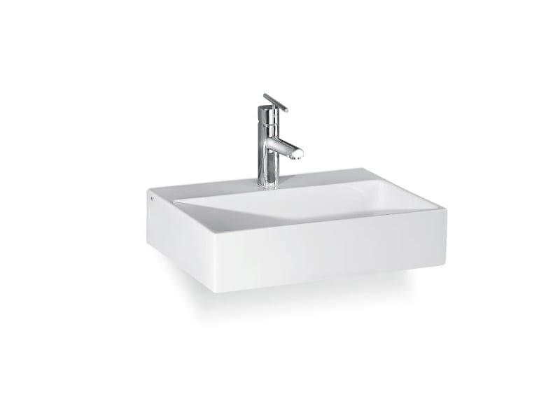 Countertop wall-mounted washbasin THIN RETTANGOLARE CR by A. e T. Italia