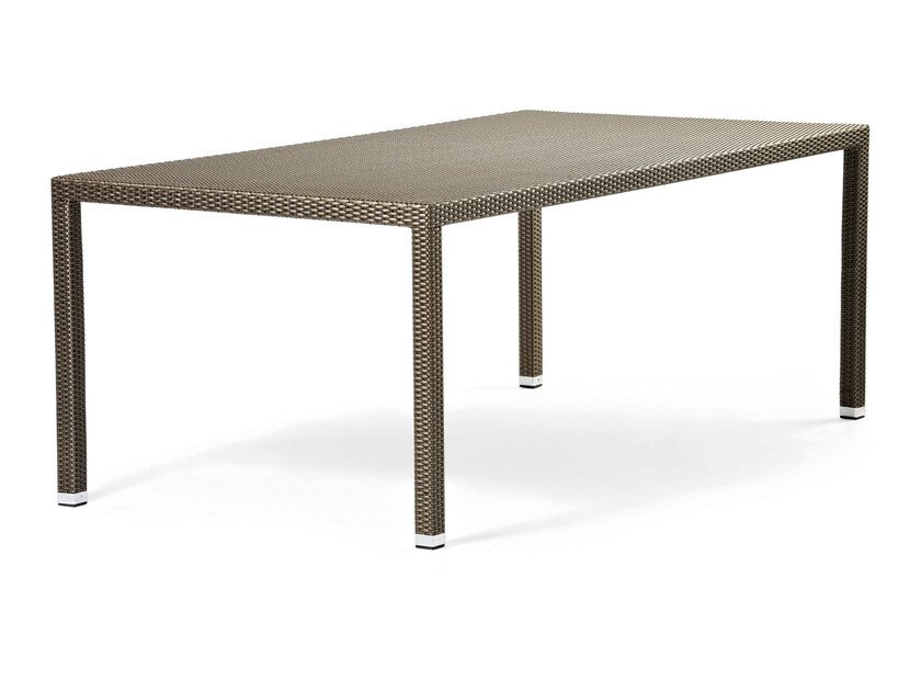 Rectangular table with synthetic fiber weaving LOTUS   Rectangular table by Varaschin