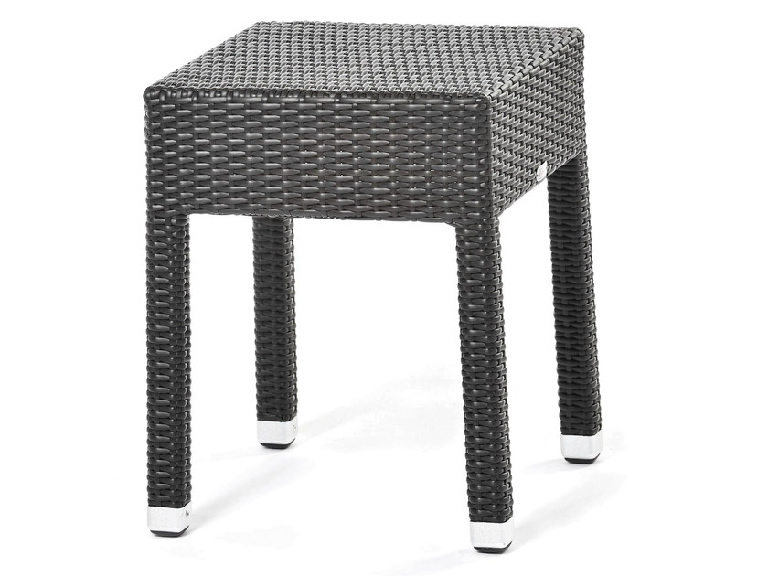 Square coffee table with synthetic fiber weaving LOTUS | Coffee table by Varaschin