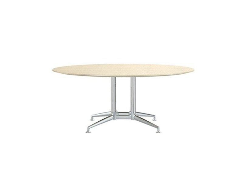 Round aluminium and wood meeting table FINA CONFERENCE | Round meeting table by Brunner