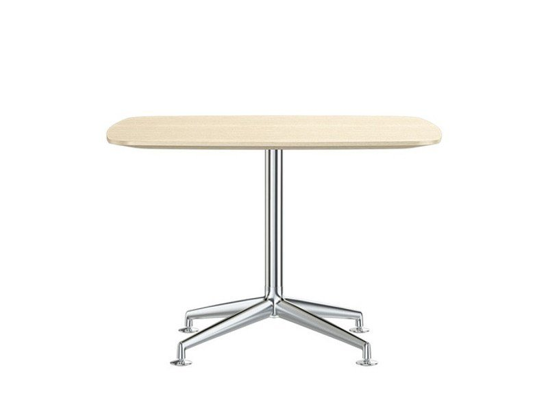 Aluminium and wood meeting table FINA CONFERENCE by Brunner