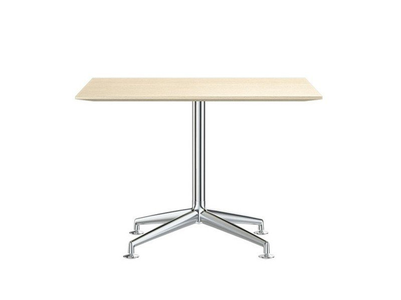 Square aluminium and wood meeting table FINA CONFERENCE | Square meeting table by Brunner