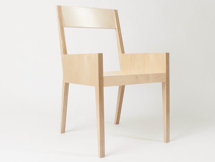 Multi-layer wood chair NAPOLÉON | Chair by MALHERBE EDITION