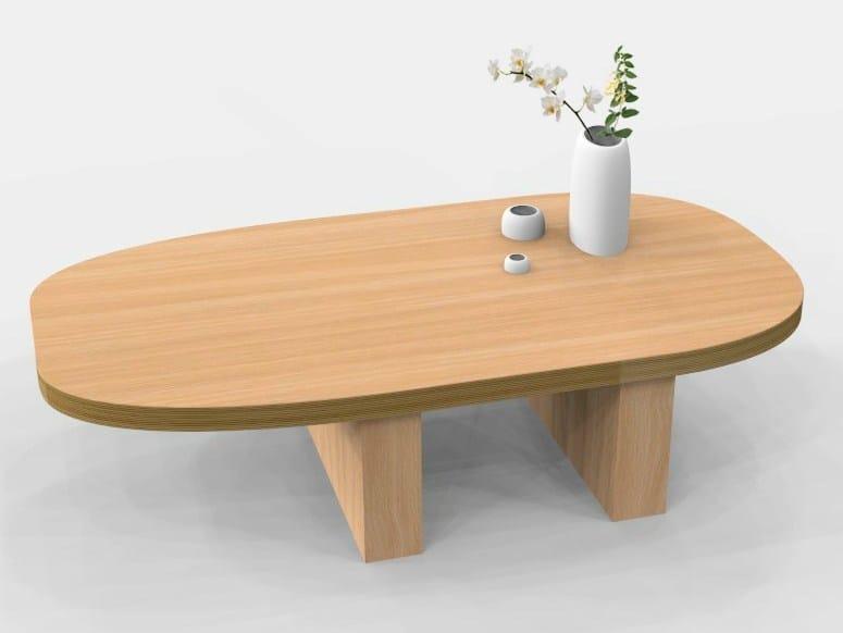 Oak coffee table GETA by MALHERBE EDITION