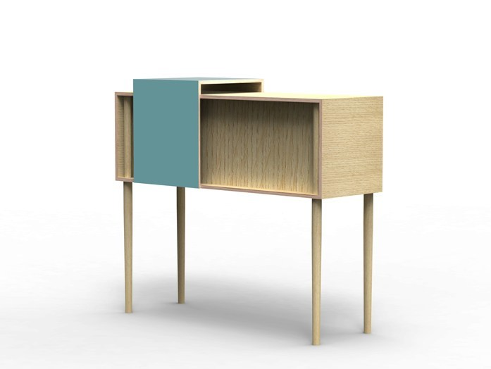 Multi-layer wood sideboard COULISSE | Sideboard by MALHERBE EDITION
