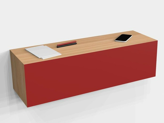 Horizontal wall cabinet SECRET by MALHERBE EDITION