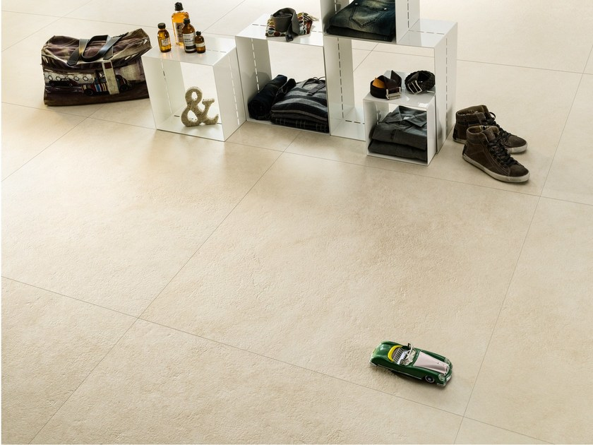 Flooring with stone effect JERUSALEM LIMESTONE by ARIOSTEA