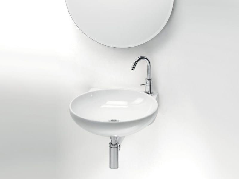 Countertop wall-mounted washbasin THIN TONDO CR by A. e T. Italia