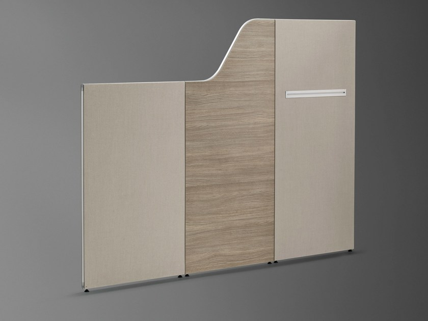 Mobile free standing workstation screen INSIDE 25 | Free standing workstation screen by König Neurath