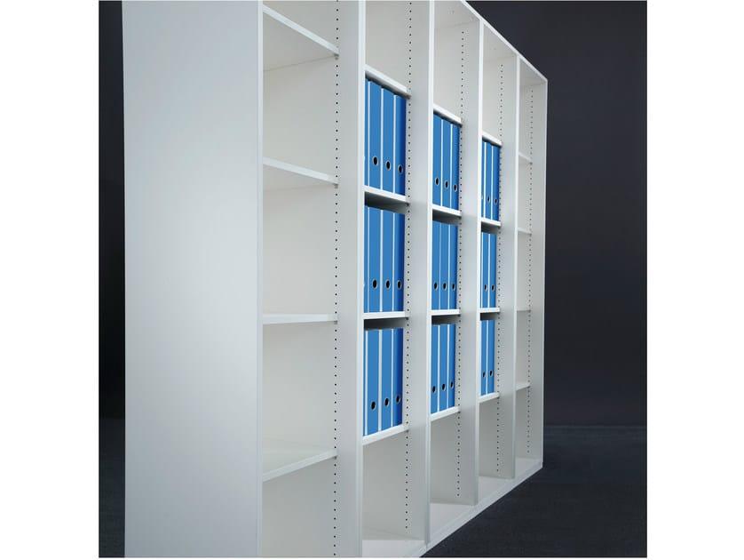 Tall wooden office storage unit ACTA PLUS by König Neurath