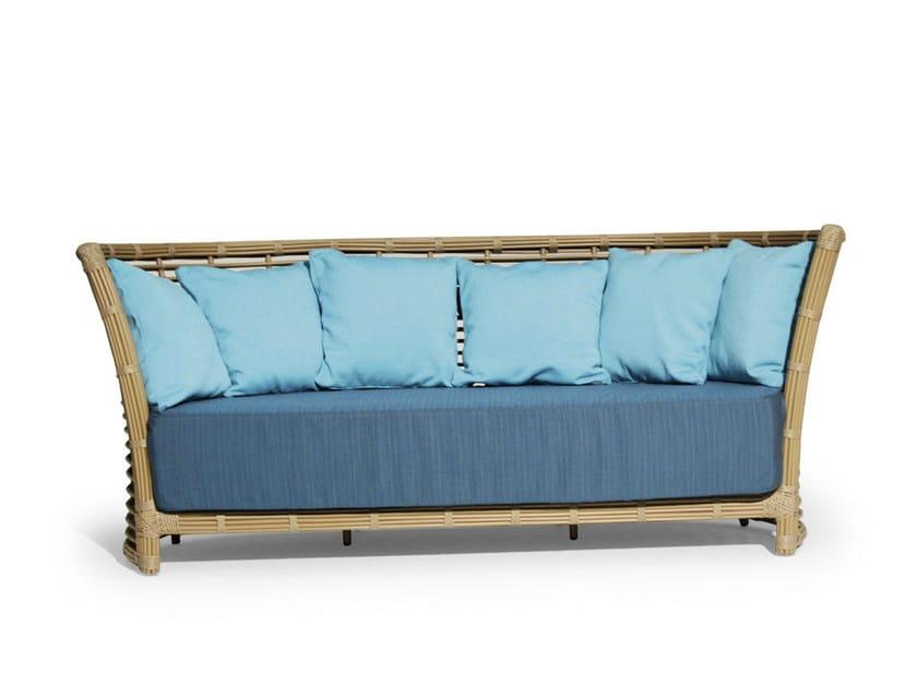 Upholstered sofa with synthetic fiber weaving TONKINO | Sofa by Varaschin