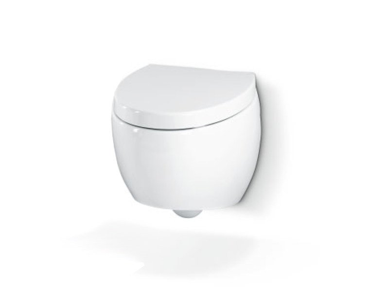 Wall-hung ceramic toilet OVAL WC WALL by A. e T. Italia