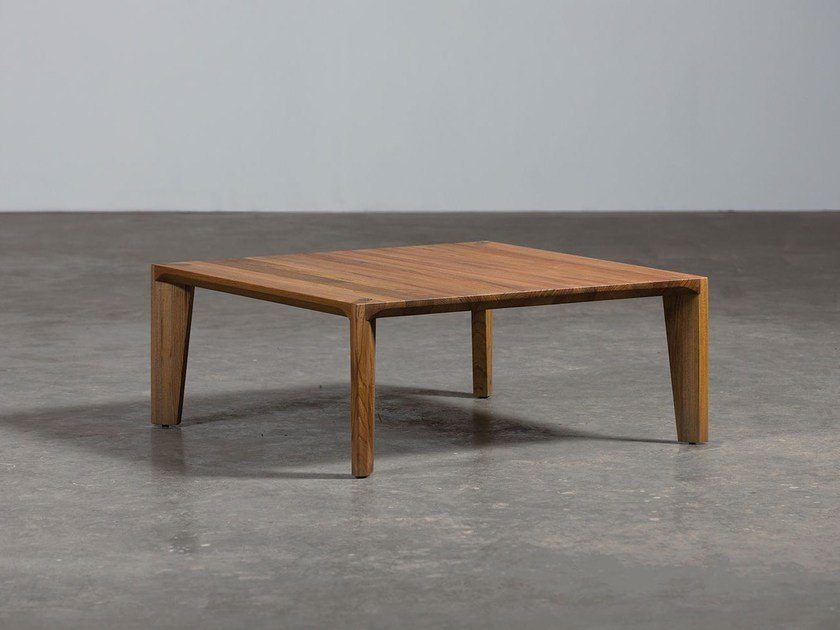 Low rectangular wooden coffee table HANNY | Coffee table by Artisan