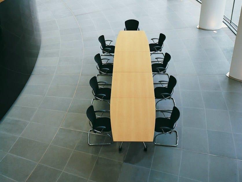 Folding meeting table with castors SUMMA | Meeting table by König Neurath