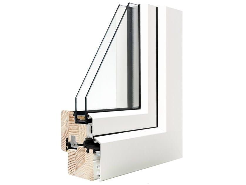 Aluminium and wood double glazed window VIVALDI STANDARD by Italserramenti