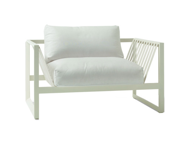 Upholstered garden armchair with armrests SAND | Garden armchair by Andreu World