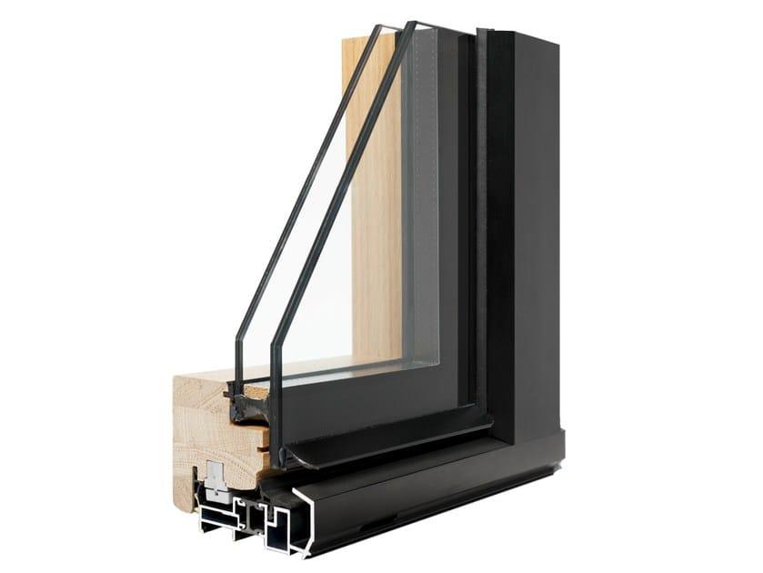 Aluminium and wood window VIVALDI INTEGRALE by Italserramenti
