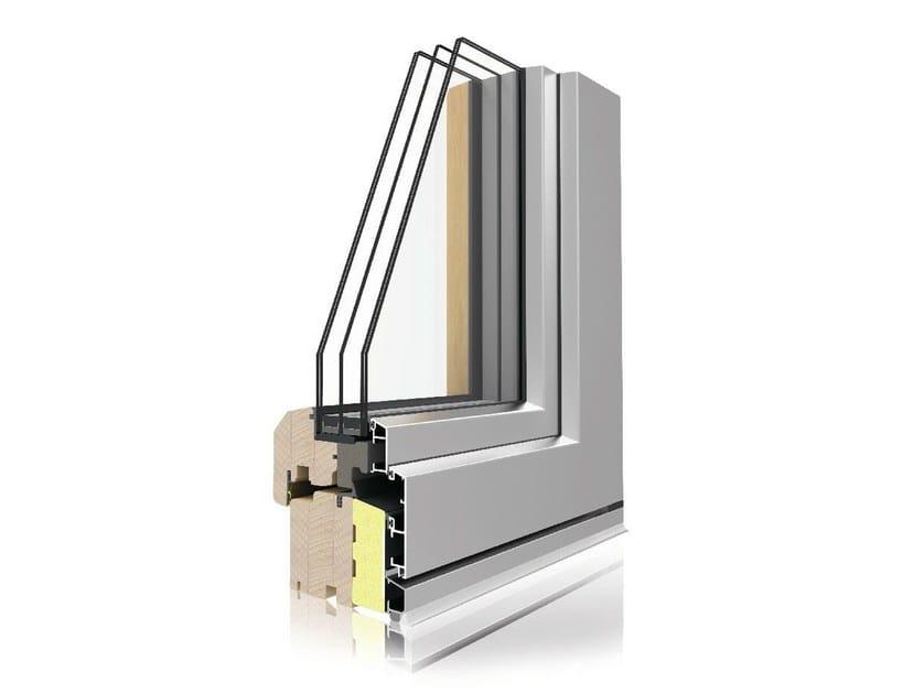 Aluminium and wood top-hung window VIVALDI TERMOSCUDO by Italserramenti