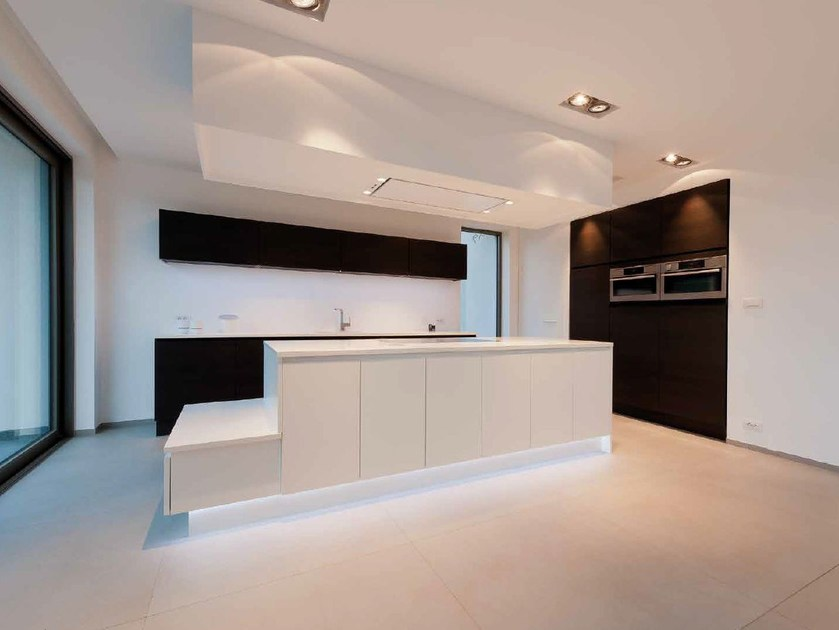 Ultra thin Techlam® flooring with stone effect HYDRA PLOMO by Levantina