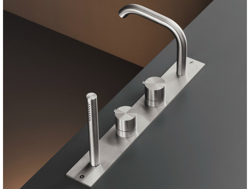 Rim mounted thermostatic mixer set with spout MIL 28 by Ceadesign