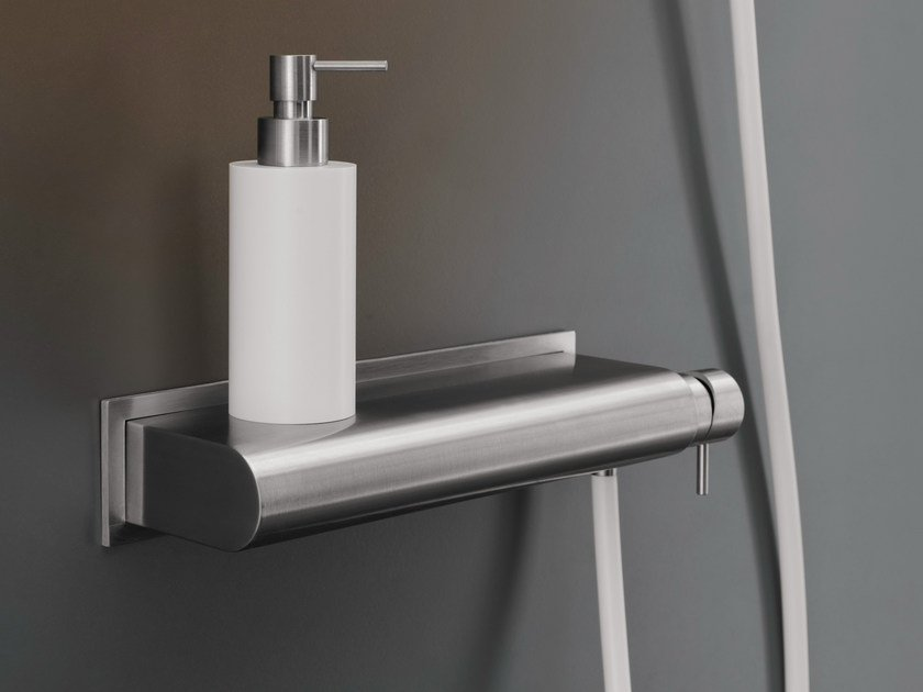 Wall mounted external mixer set with hand shower MIL 95 by Ceadesign