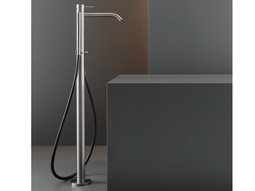 Free-standing mixer for bathtub with hand shower MIL 19 by Ceadesign