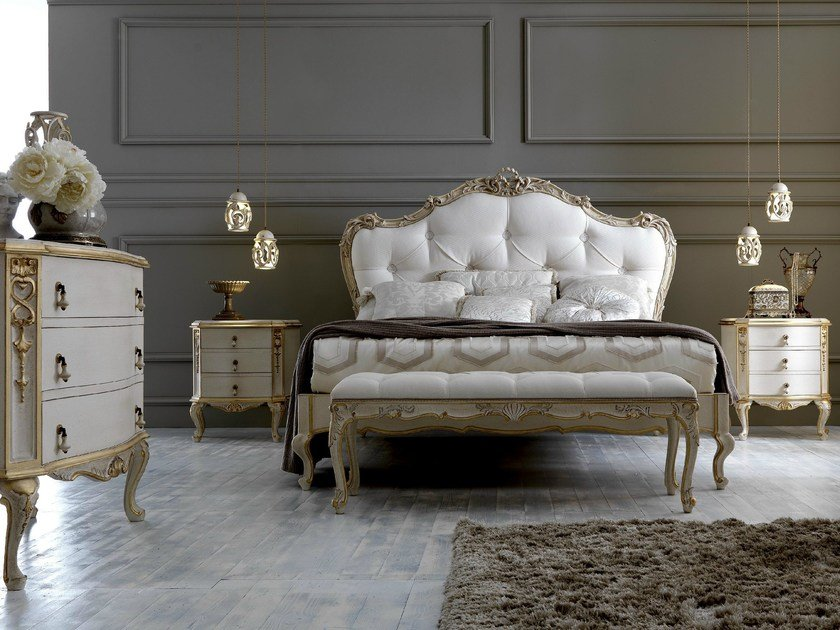 Double bed with tufted headboard 2406 | Double bed by Grifoni Silvano