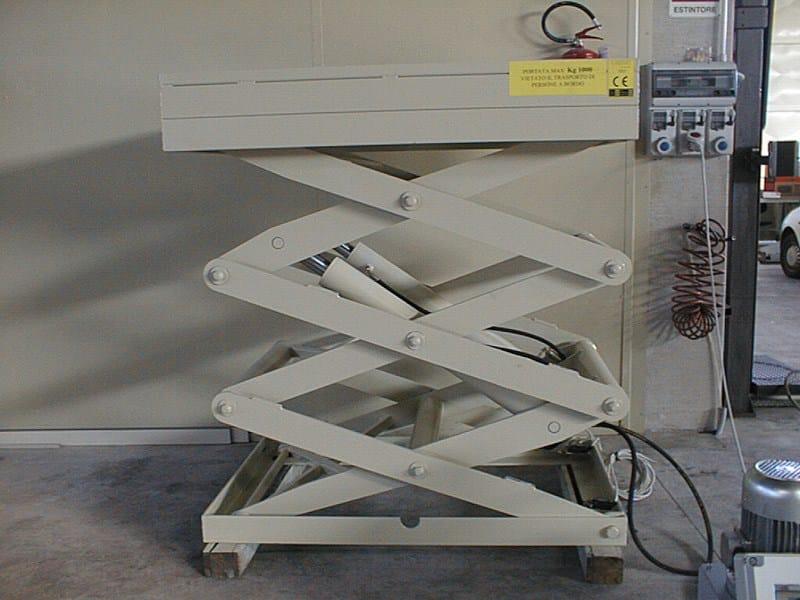 Piattaforme a pantografo Piattaforma triplo pantografo