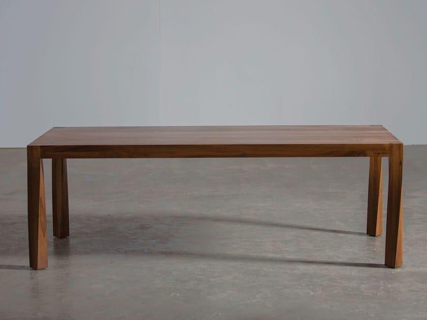 Rectangular wooden table TOR by Artisan