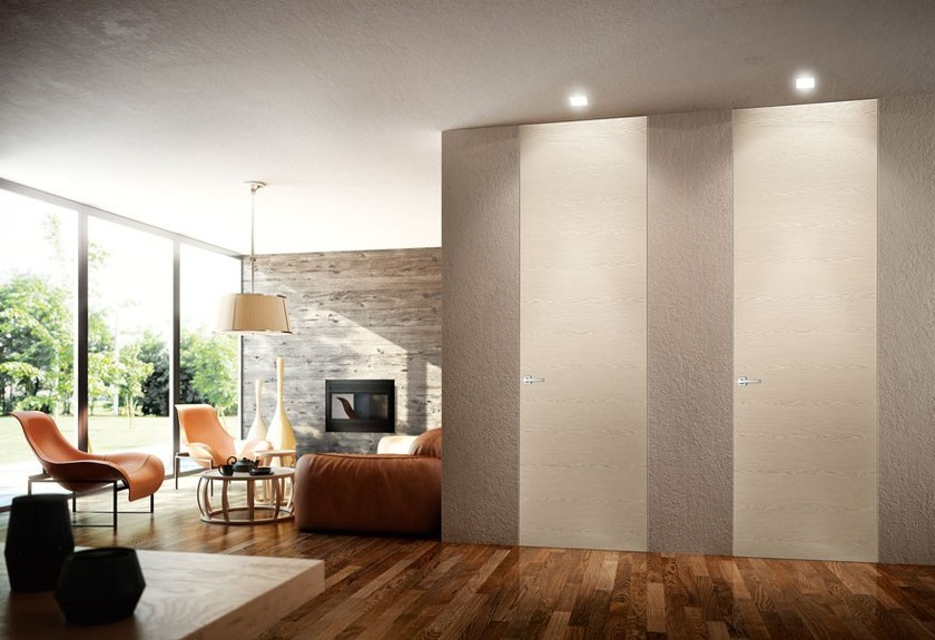 Hinged flush-fitting wooden door LEGGERA | Flush-fitting door by PIVATO