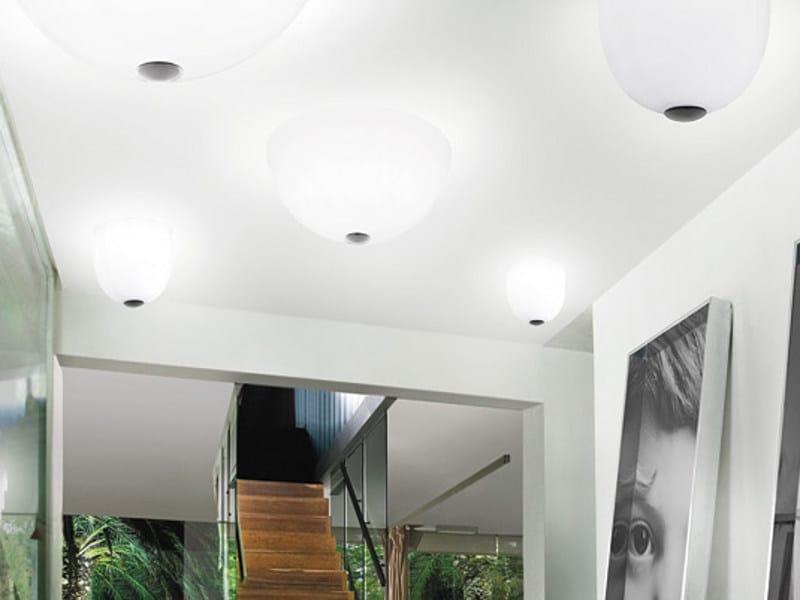 Glass ceiling light DRESS PL by Vetreria Vistosi