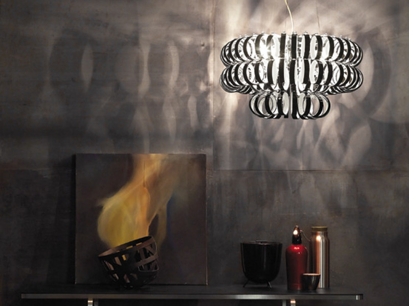 Glass pendant lamp ECOS SP 60A by Vetreria Vistosi