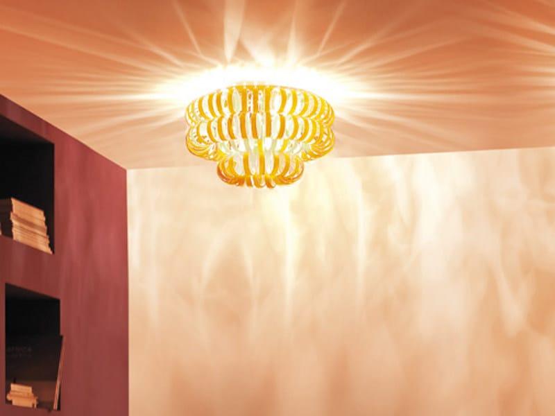 Glass ceiling lamp ECOS PL 60A by Vetreria Vistosi