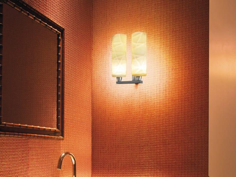 Glass wall lamp FOLLIA AP 2 P by Vetreria Vistosi