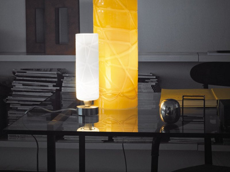 Glass table lamp FOLLIA LT by Vetreria Vistosi