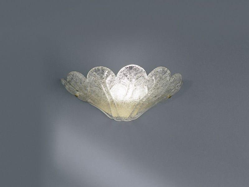 Blown glass wall lamp FUOCHI AP by Vetreria Vistosi