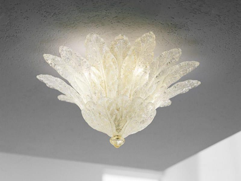 Blown glass ceiling lamp FUOCHI PL 16F by Vetreria Vistosi