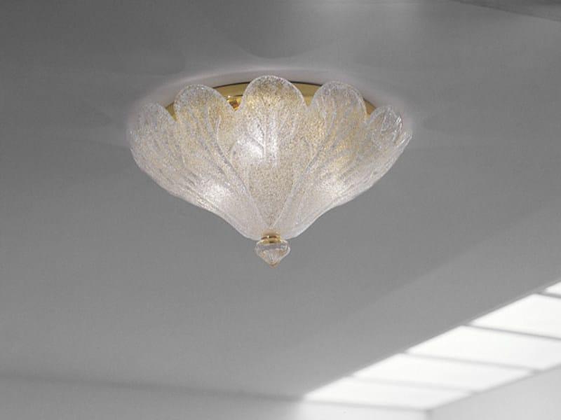 Blown glass ceiling lamp FUOCHI PL 55 by Vetreria Vistosi