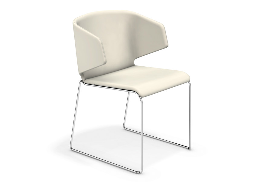 Sled base fabric chair CARMA 1211-00 by Casala