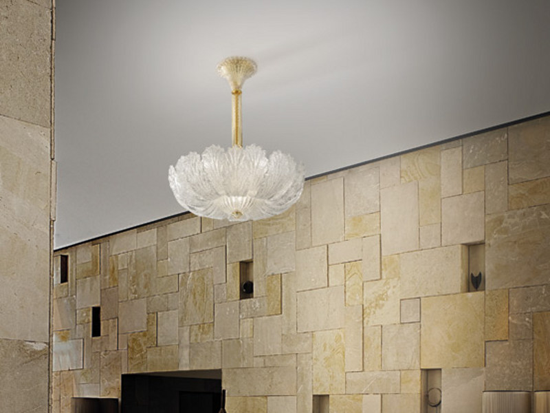 Glass pendant lamp GIUBILEO SP 20F by Vetreria Vistosi