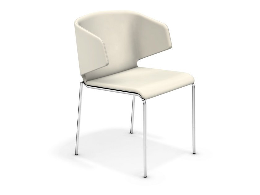 Upholstered reception chair CARMA 1213-00 by Casala