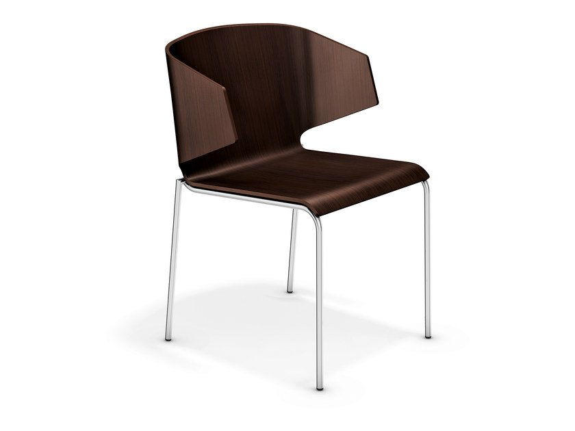 Wooden reception chair CARMA 3113-00 by Casala