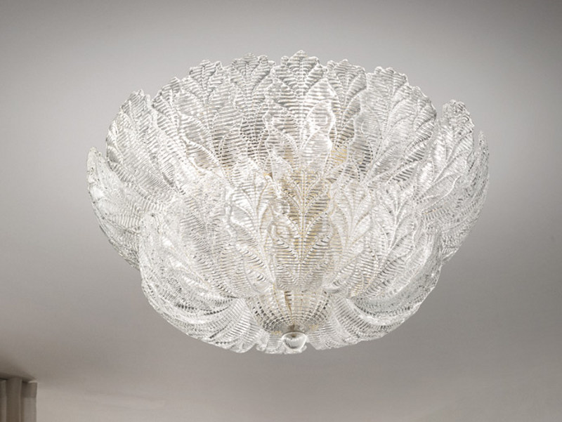 Glass ceiling lamp GIUDECCA PL 52F by Vetreria Vistosi
