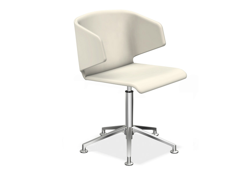 Upholstered chair with 5-spoke base CARMA 1215-00 by Casala
