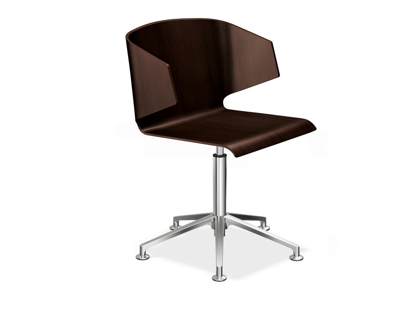 Wooden chair with 5-spoke base CARMA 3115-00 by Casala