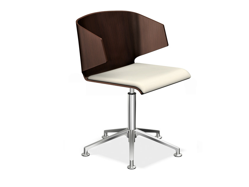 Chair with 5-spoke base CARMA 2115-00 by Casala