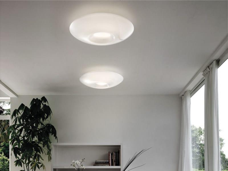 Blown glass ceiling light GOTO PP   Ceiling light by Vetreria Vistosi