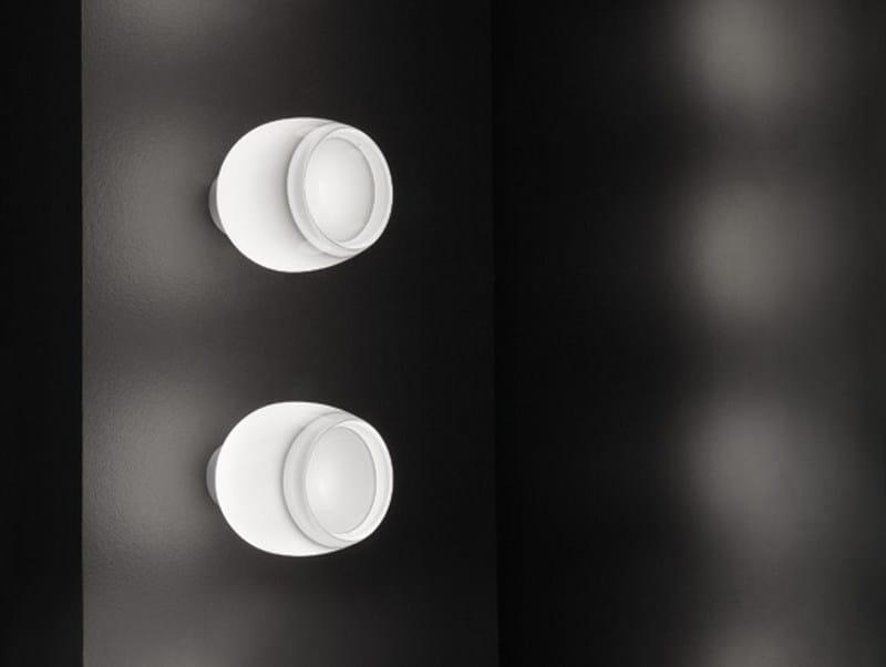 Direct light halogen glass wall lamp IMPLODE FA 16 by Vetreria Vistosi